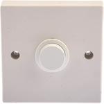 Push Button Timer Light Switch, 10 s → 20min, Surface Mount, 2 Way, 1 Gang 240V ac 10A