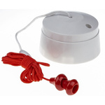 2 Way Pull Cord Switch, 2m, 250V ac, 6A for Fluorescent Lamp