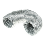 3m PVC Reinforced Aluminium Foil Ducting, 100mm diameter