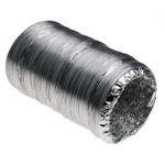 5m PVC Reinforced Aluminium Foil Ducting, 100mm diameter