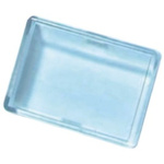 Panel Mount Indicator Lens Rectangle Style, Clear, 24mm Long