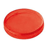 Panel Mount Indicator Lens Round Style, Red, 22mm diameter