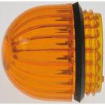 Panel Mount Indicator Lens Domed Style, Amber, 15.86mm diameter , 15.86mm Long