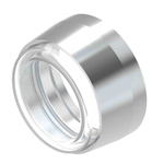 """Push Button Bezel for use with """"For Illuminated pushbutton with front illumination for IP 67 protection"""