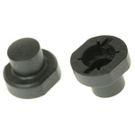 Black Modular Switch Cap, for use with 3F Series Push Button Switch, Cap