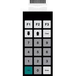 Bopla IP65 18 Key Conductive Silver Membrane Keypad