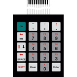 Bopla IP65 20 Key Conductive Silver Membrane Keypad