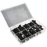 HellermannTyton Black PVC Cable Grommet Kit