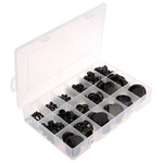 RS PRO Black Nylon 66 Cable Grommet Kit, Kit incl. Easy Fit Type Grommets, 6.4 → 48.4mm dia.