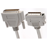 2m Male SCSI II to Male DB50 SCSI Cable Assembly, Clip Fastener