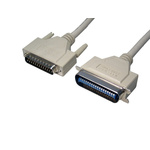 RS PRO Printer 10m D25 Way Male to C36 Way Male Parallel Cable Assembly