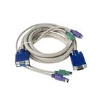 RS PRO 1.8m Female MD6 Mini-DIN x 2, Female VGA to Male MD6 Mini-DIN x 2, Male VGA KVM Mixed Cable Assembly