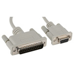 Roline 1.8m Male DB25 to Female RS232 Serial Cable Assembly