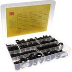 RS PRO Black PVC Cable Grommet Kit, Kit incl. Easy Fit Type Grommets, 3 → 19mm dia.