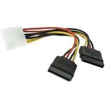RS PRO 120mm 4-Pin Molex SATA Cable