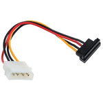RS PRO 100mm 4-Pin Molex SATA Cable