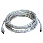 3m 6 Pole Male to 6 Pole Male Firewire Cable Assembly