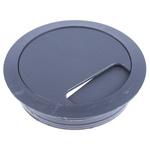 RS PRO Grey Desk Grommet 80mm Panel Hole Diameter