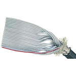 Harting 50 Way Screened Round Ribbon Cable, 63.5 mm Width