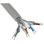 RS PRO Grey LSZH Cat7 Cable S/FTP, 500m Unterminated/Unterminated