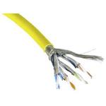 RS PRO Yellow Cat7a Cable, LSZH, Low Smoke Zero Halogen (LSZH), 100m Length