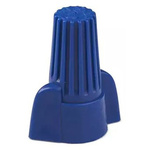 TE Connectivity, WingGrip Insulated Twist Bullet Connector, 14AWG to 6AWG, 31.8mm Bullet diameter, Blue