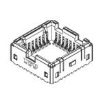 Molex 0.9mm Pitch 32 Way SMD PLCC Socket