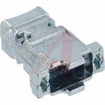 connector accessory,d-sub,str exit die-cast metal hood,for std 9/hd15 cont conn