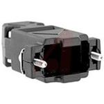 connector accessory,d-sub,plastic 2-piece straight hood,black,for 9 cont d-sub