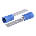JST, FV Insulated Crimp Blade Terminal 18.2mm Blade Length, 1mm² to 2.6mm², 16AWG to 14AWG, Blue