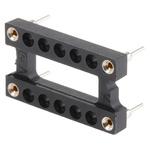 Aries Electronics 15.24mm Pitch 14 Way DIL Oscillator Socket