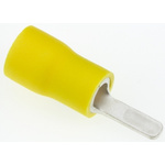 JST, AF Insulated Crimp Blade Terminal 10mm Blade Length, 2.6mm² to 6.6mm², 12AWG to 10AWG, Yellow