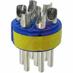 Male Connector Insert size 24 7 Way for use with 97 Series Standard Cylindrical Connectors