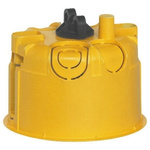 Legrand Batibox Yellow Plastic Back Box, NF, IP00, Drylining Mount, 1 Gangs, 67 x 50mm