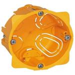 Legrand Batibox Yellow Plastic Back Box, NF, IP00, Drylining Mount, 1 Gangs