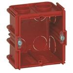 Legrand Batibox Red Plastic Back Box, NF, IP00, Flush Mount, 1 Gangs