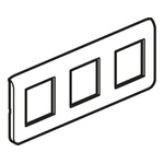 Legrand White 3 Gang Cover for Support Frame Faceplate