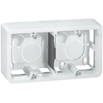 Legrand Mosaic White Plastic Back Box, NF, IP20, Surface Mount, 3 Gangs