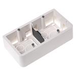 Legrand Mosaic White Plastic Back Box, NF, IP20, Surface Mount, 2 Gangs
