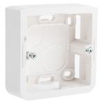 Legrand Mosaic White Plastic Back Box, NF, IP20, Surface Mount, 1 Gangs