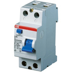 ABB 2 Pole Type A Residual Current Circuit Breaker, 25A F202, 300mA
