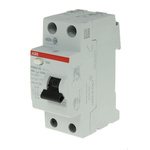 ABB 2 Pole Type AC Residual Current Circuit Breaker, 63A FH200, 30mA