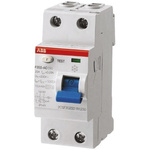 ABB 2 Pole Type A Residual Current Circuit Breaker, 63A F202, 300mA