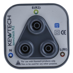 Kewtech Corporation R2CHECK, R2 Socket Adapter, For Use With Continuity Tester, Insulation Tester, Multi-Function Tester