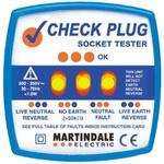 Martindale RSCP501 Socket Tester 13A 200 → 250V ac CAT II 300 V, Model CP-501 RS Calibration