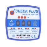 Martindale RSCP501 Socket Tester 13A 200 → 250V ac CAT II 300 V, Model CP-501