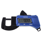 RS PRO Thickness Gauge, 0mm - 12mm, ±0.1 mm Accuracy, 0.01 mm Resolution, LCD Display