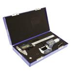 RS PRO Metric & Imperial Digital Caliper, Micrometer Measuring Set UKAS
