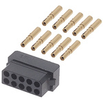 Datamate Connector Kit Containing 10 way DIL Female Shell, Crimps