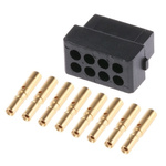 Datamate Connector Kit Containing 8 way DIL Female Shell, Crimps